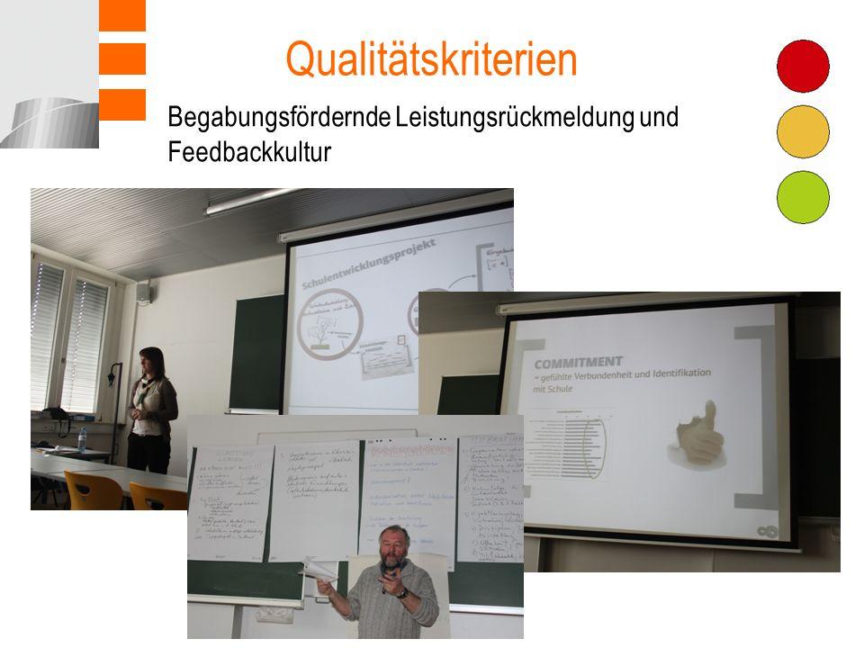 Qualitätskriterien Teamarbeit Begabungsfördernde Leistungsrückmeldung und Feedbackkultur