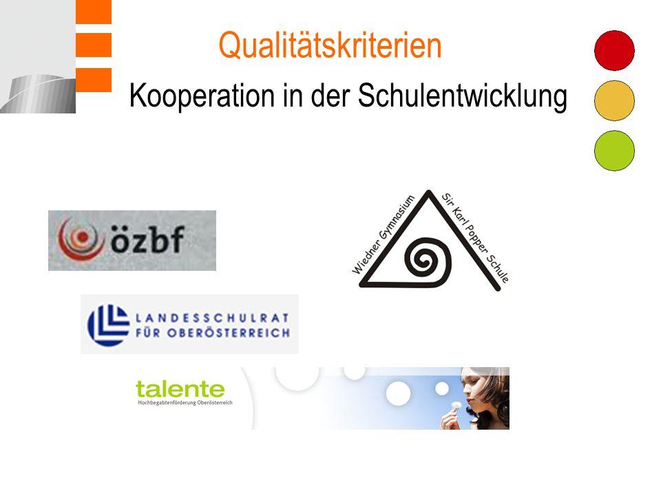 Kooperation in der Schulentwicklung Qualitätskriterien