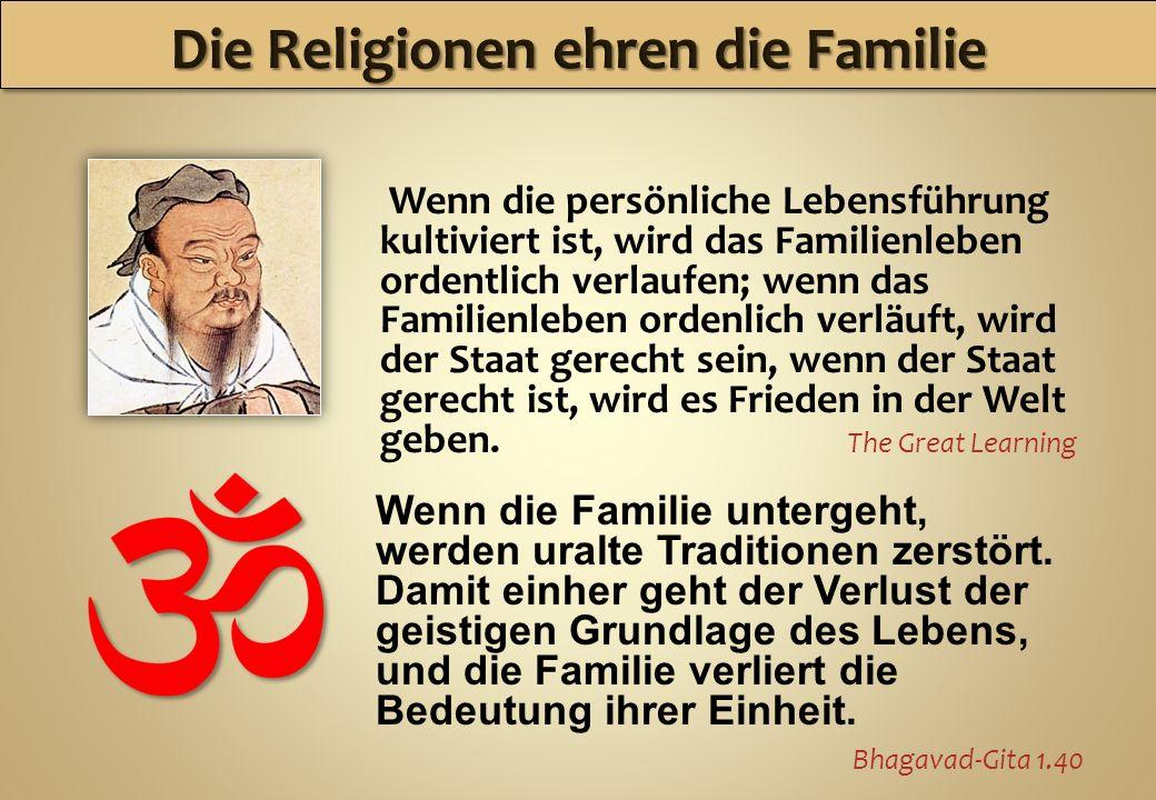 Wenn die persönliche Lebensführung kultiviert ist, wird das Familienleben ordentlich verlaufen; wenn das Familienleben ordenlich verläuft, wird der St