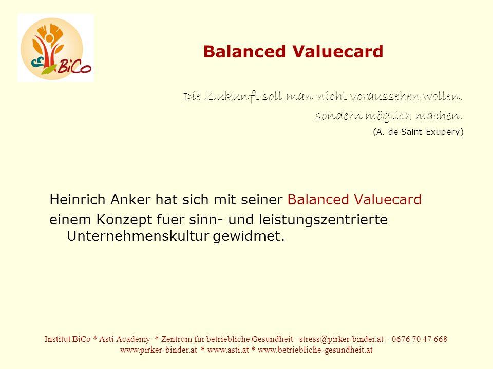 Balanced Valuecard Die Zukunft soll man nicht voraussehen wollen, sondern möglich machen.