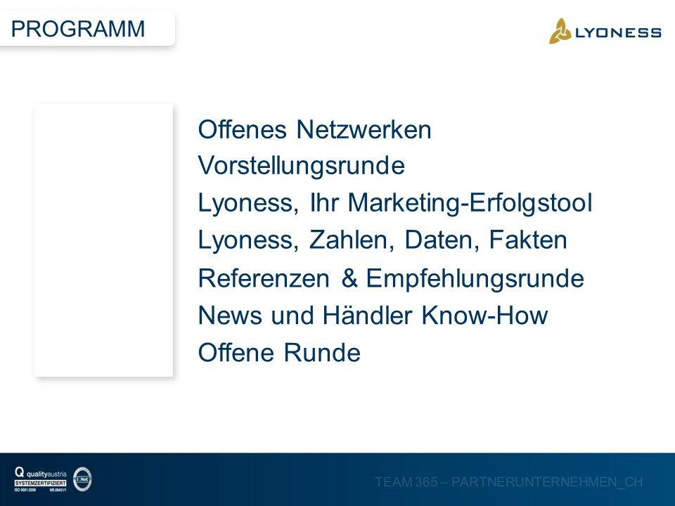 TEAM 365 – PARTNERUNTERNEHMEN_CH MESSEN UND AUSSTELLUNGEN BEA Bern 20132. TM Illnau 2013