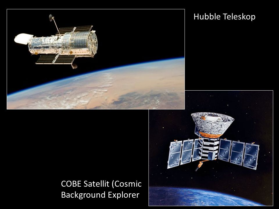 Hubble Teleskop COBE Satellit (Cosmic Background Explorer