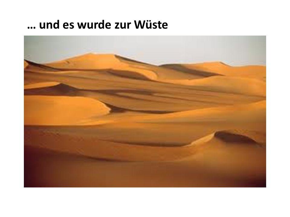 … und es wurde zur Wüste