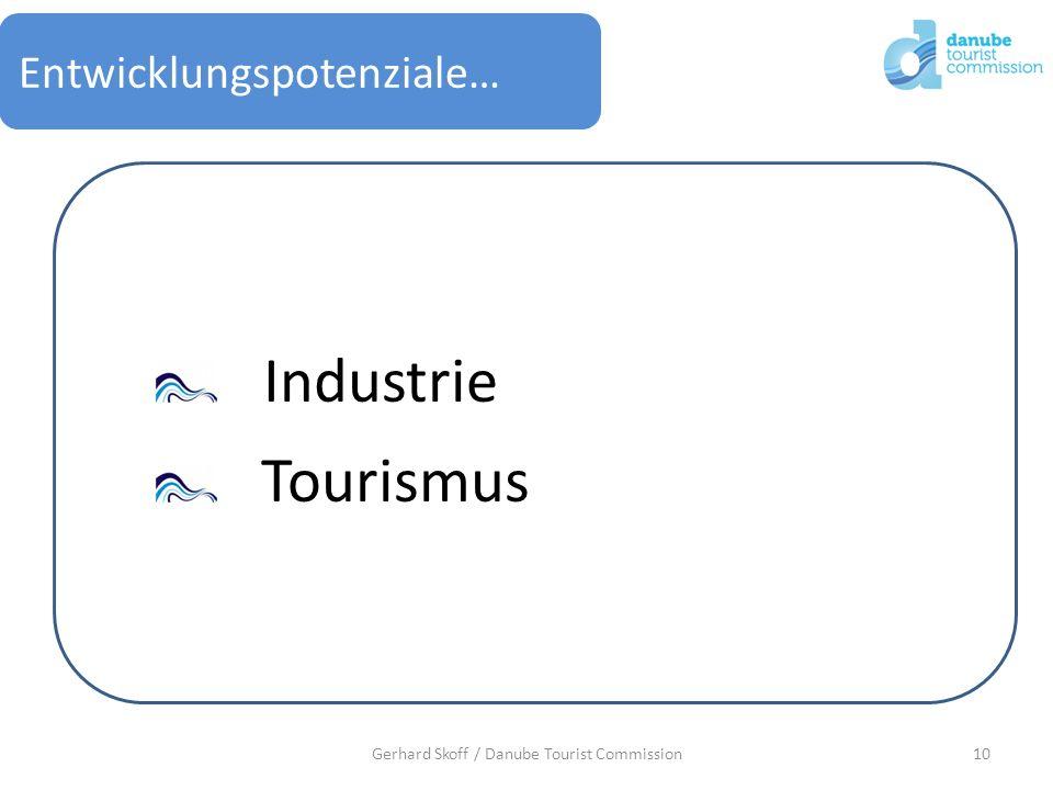 Entwicklungspotenziale… 10Gerhard Skoff / Danube Tourist Commission Industrie Tourismus