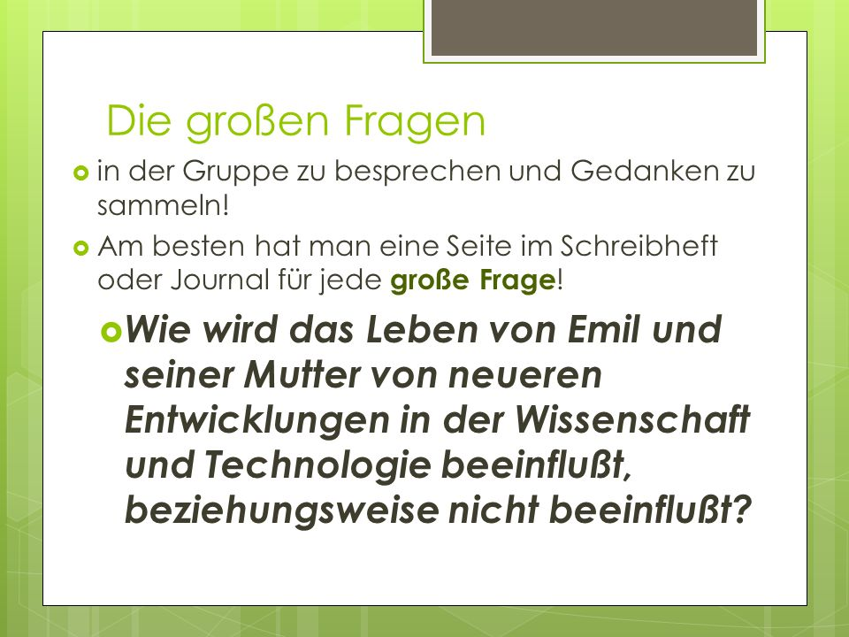Journal: Ein Brief von Emil Emil sagt, da er den Erfinder des guten Anzugs erschiessen will.