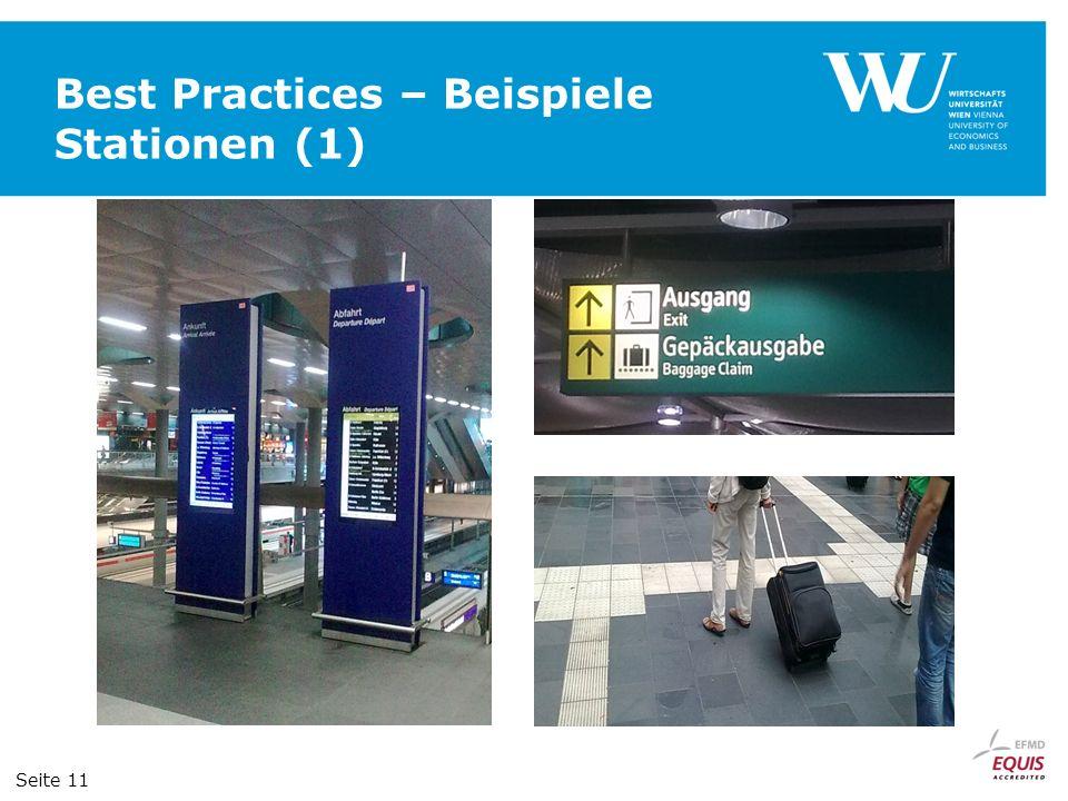 Best Practices – Beispiele Stationen (1) Seite 11