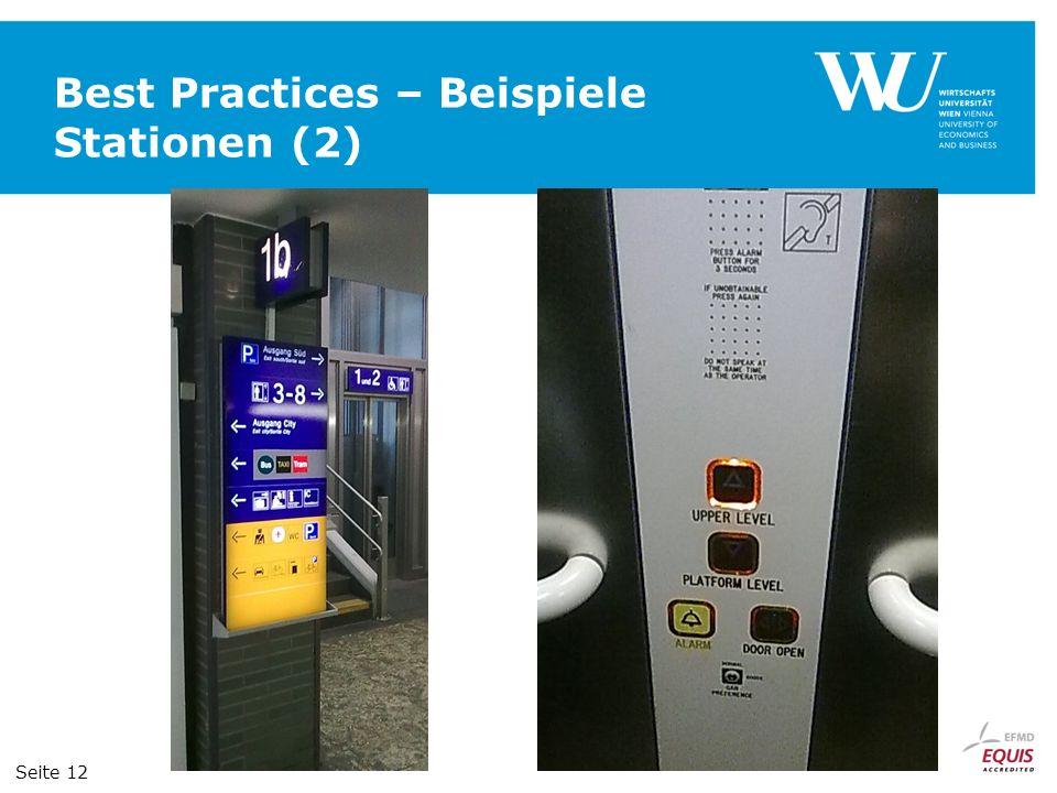 Best Practices – Beispiele Stationen (2) Seite 12