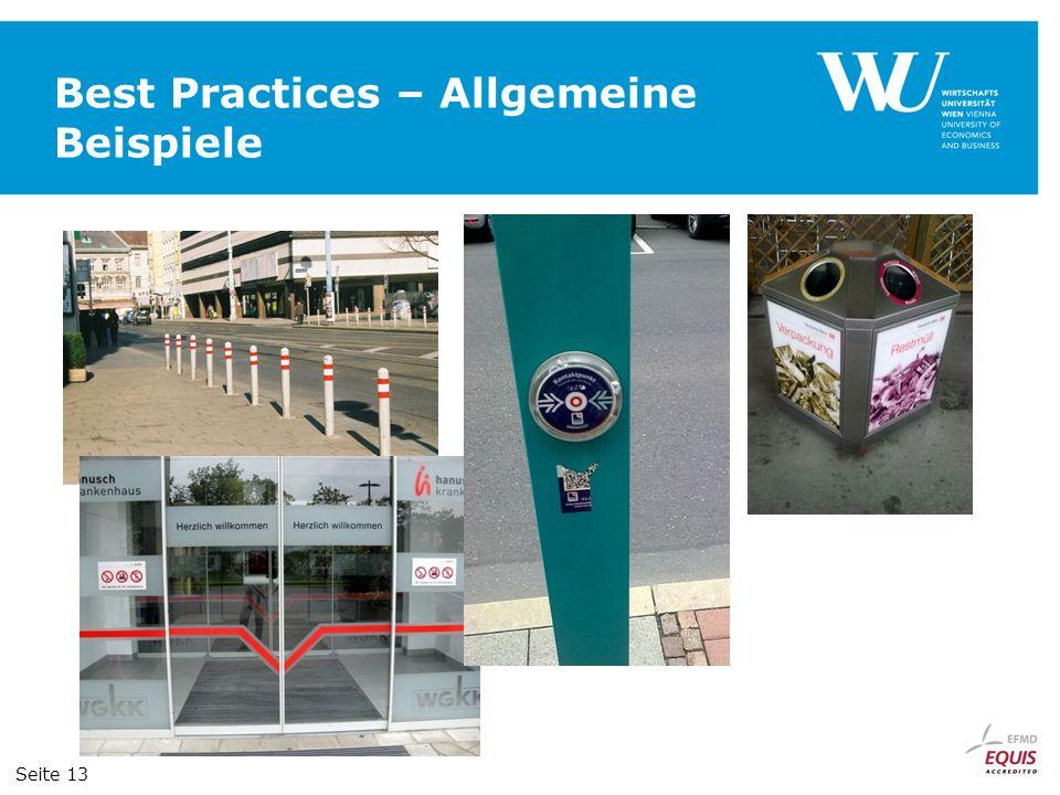 Best Practices – Allgemeine Beispiele Seite 13