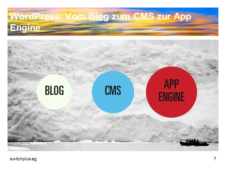 WordPress: Vom Blog zum CMS zur App Engine switchplus ag7