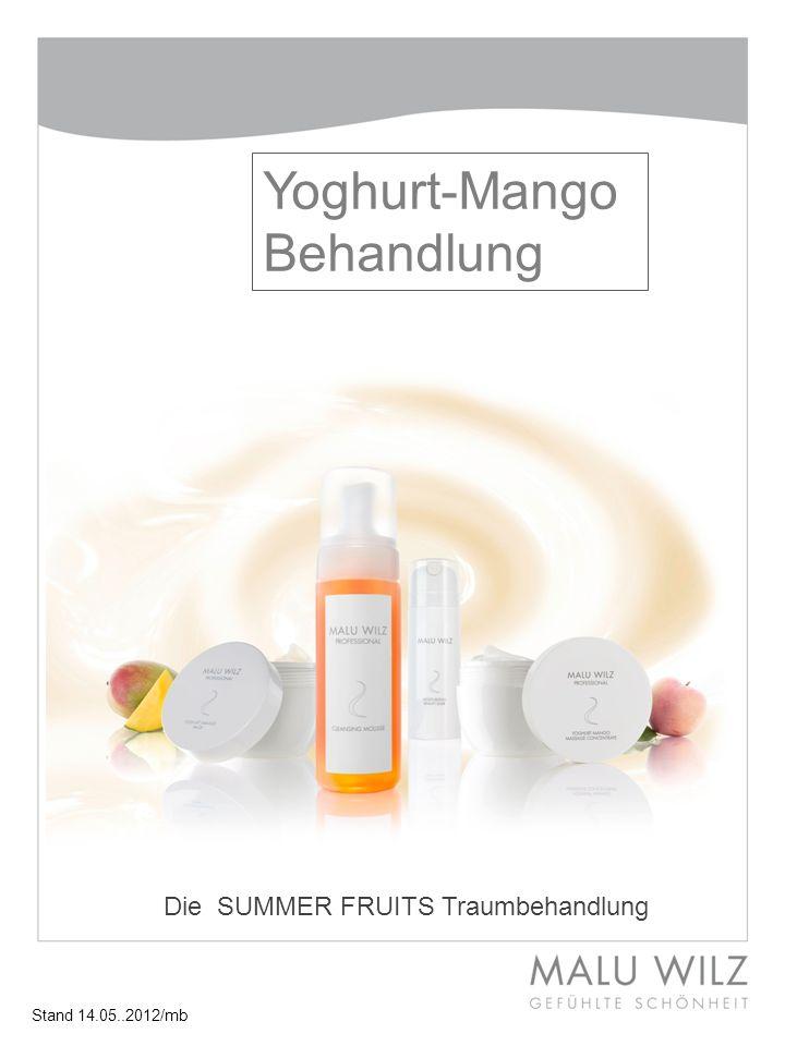 Yoghurt-Mango Behandlung Die SUMMER FRUITS Traumbehandlung Stand 14.05..2012/mb