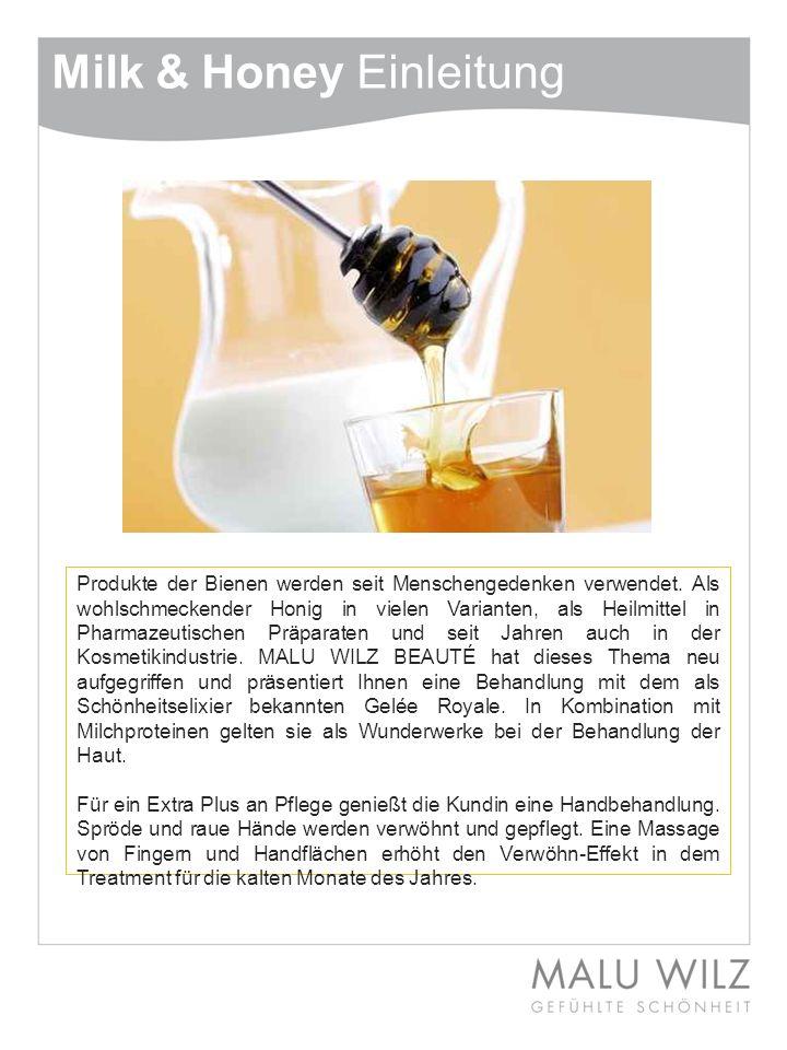 Milk & Honey - Gelée Royale Es gibt kaum eine Substanz, die mehr von Geheimnissen umwittert ist und über die es mehr mysteriöse Geschichten zu erzählen gibt, als das Gelée Royale für die Königin der Bienen.