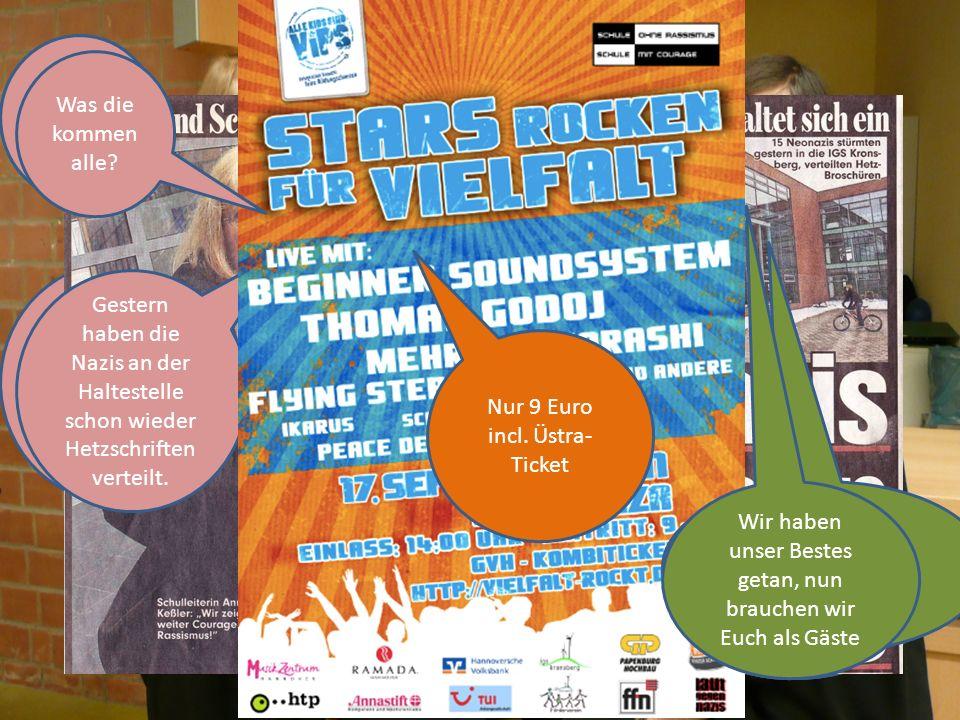 Was veranstalten wir.Ein Open-Air-Konzert für Integration und gegen Rassismus.