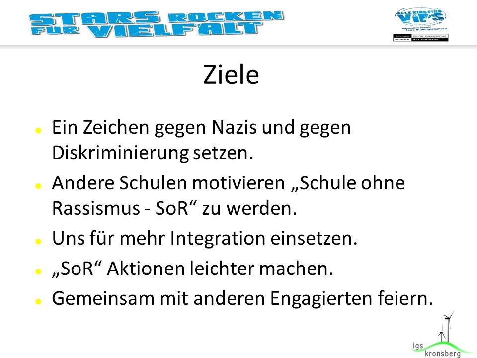 Ziele Ein Zeichen gegen Nazis und gegen Diskriminierung setzen.