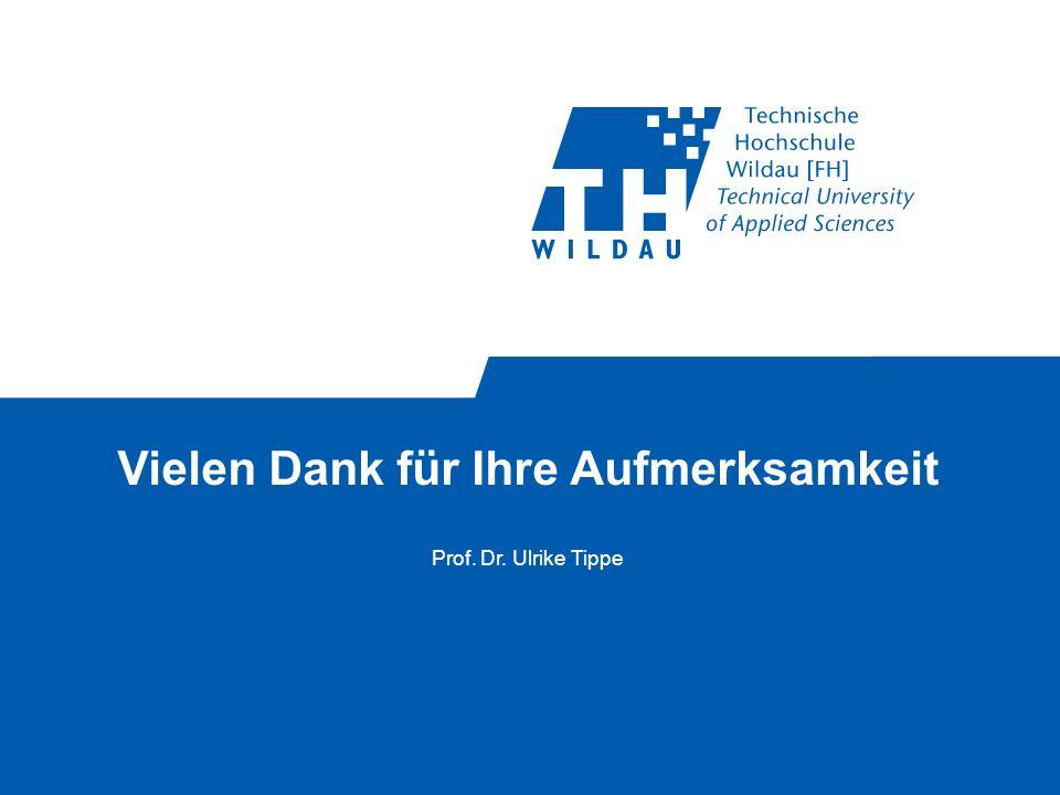 Vielen Dank für Ihre Aufmerksamkeit Prof. Dr. Ulrike Tippe
