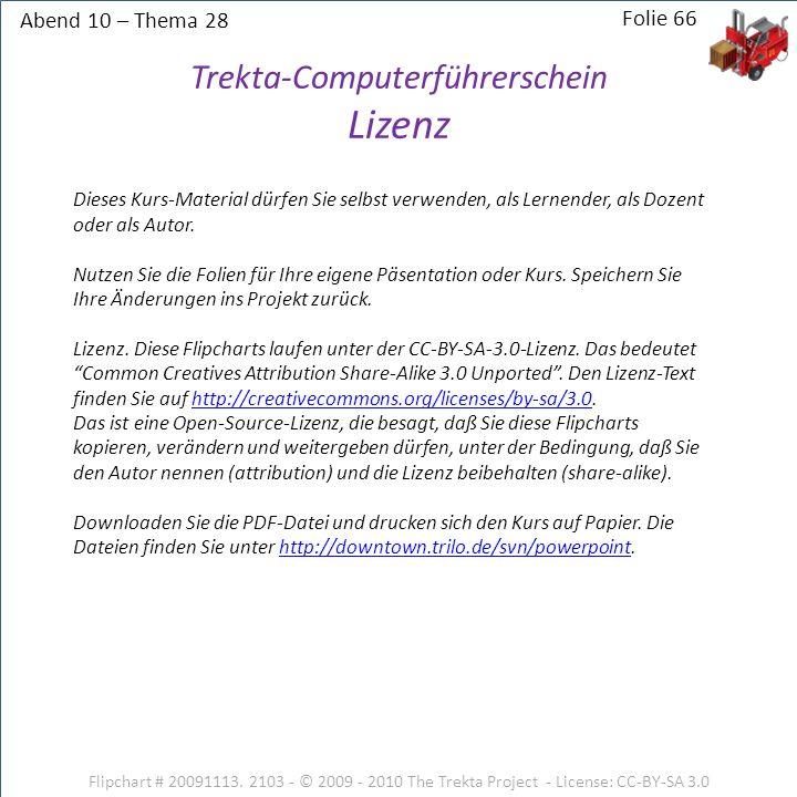 Abend 10 – Thema 28 Flipchart # 20091113.