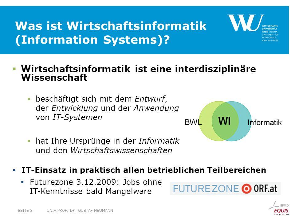 Was ist Wirtschaftsinformatik (Information Systems).