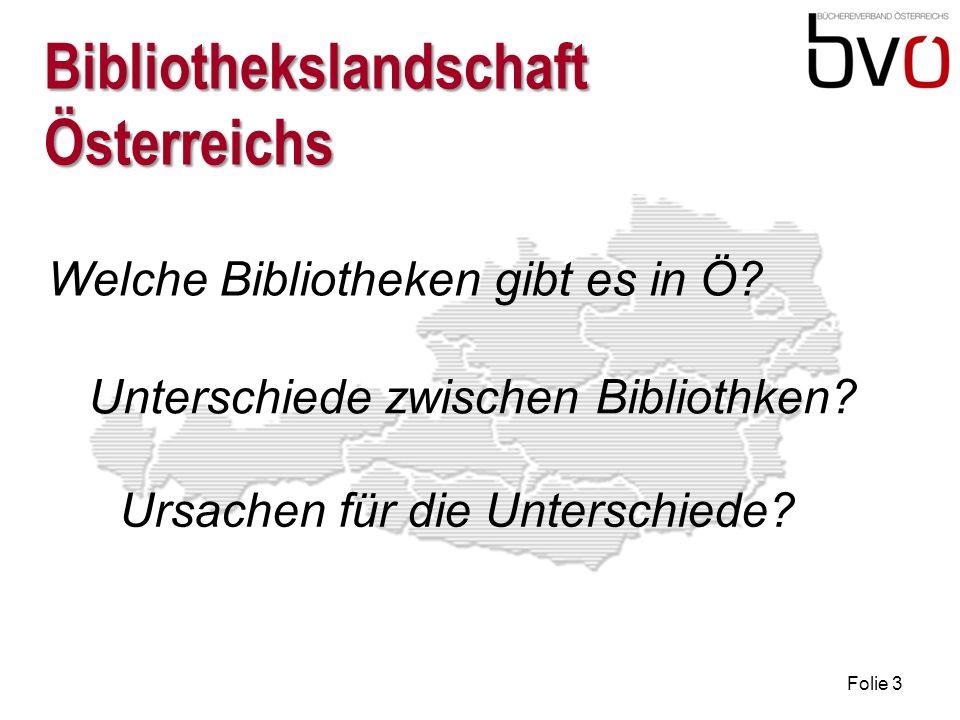 Folie 3 Bibliothekslandschaft Österreichs Welche Bibliotheken gibt es in Ö.