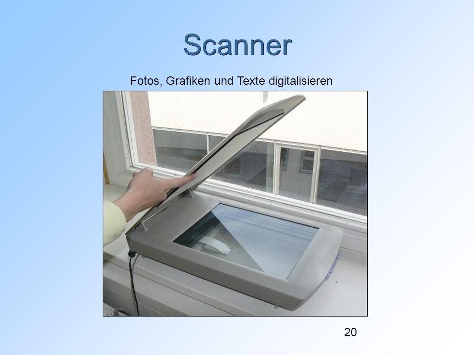 20 Scanner Fotos, Grafiken und Texte digitalisieren