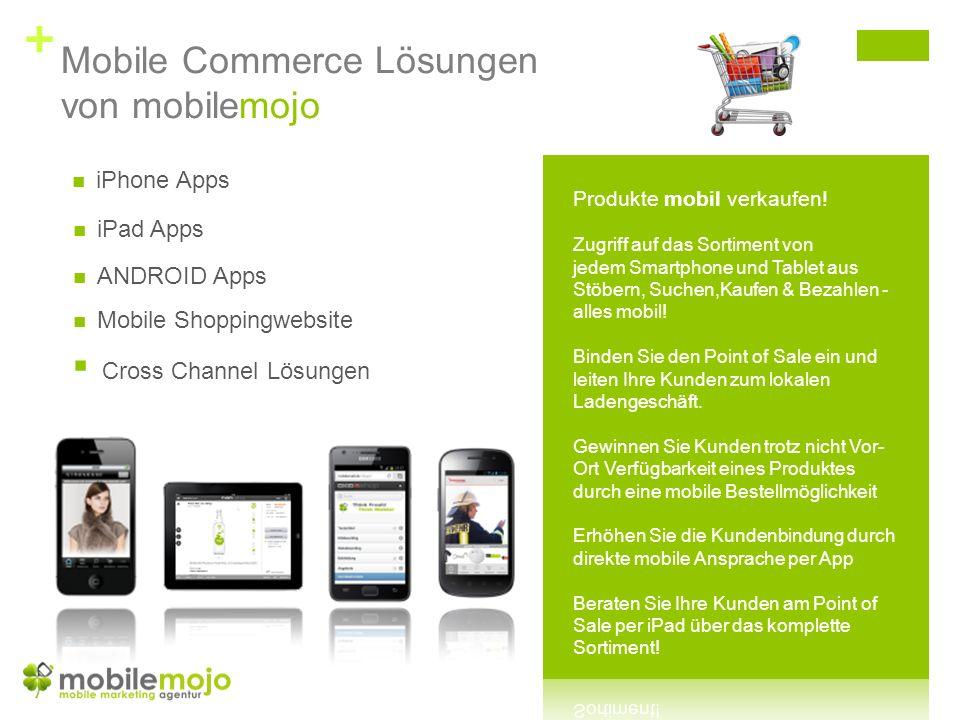 + mobilemojo Mobile Web Templates Der mobilen Besucher wird am Endgerät erkannt.