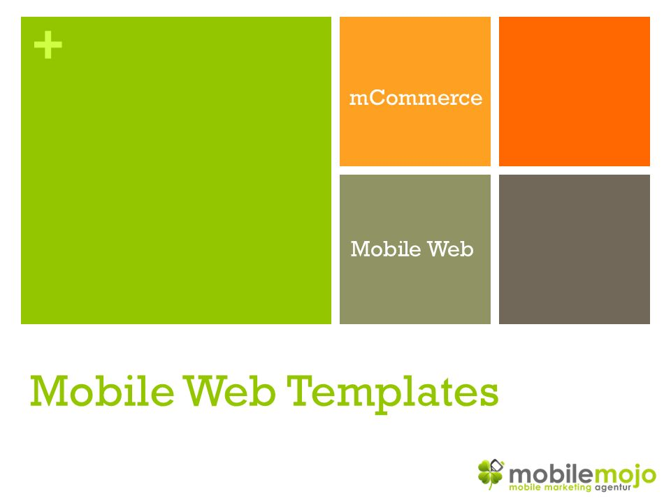 + mCommerce Mobile Web Mobile Web Templates