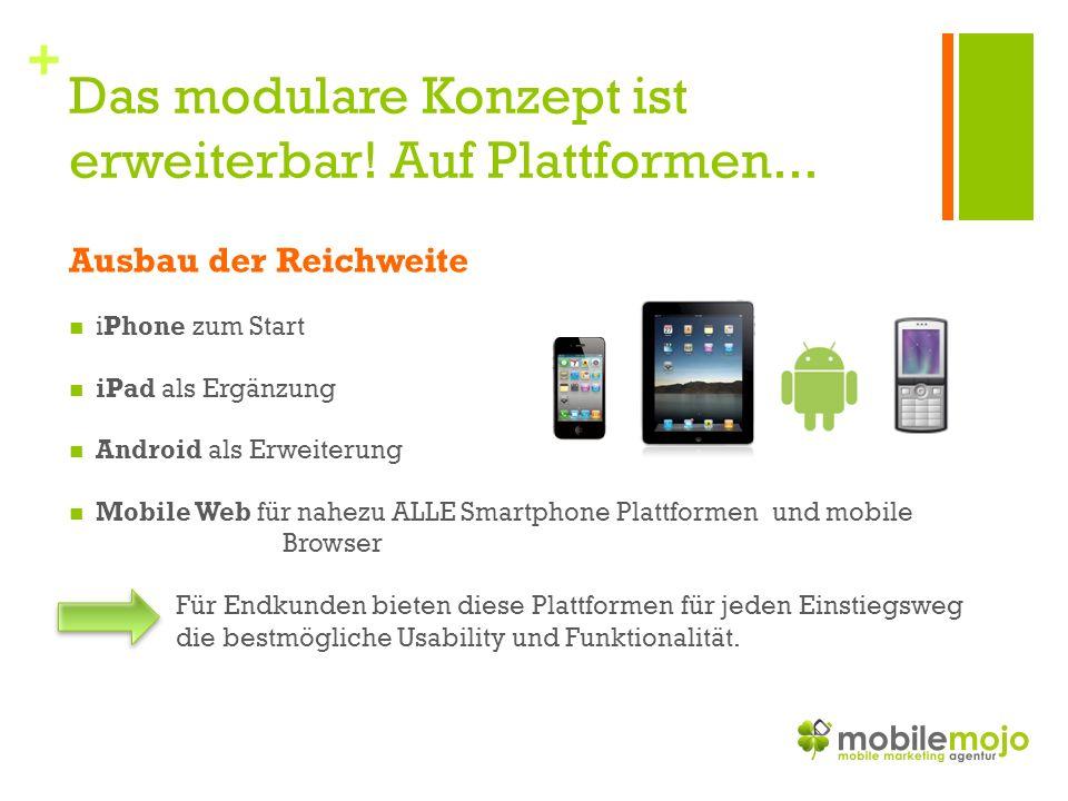 + Das modulare Konzept ist erweiterbar. Auf Plattformen...