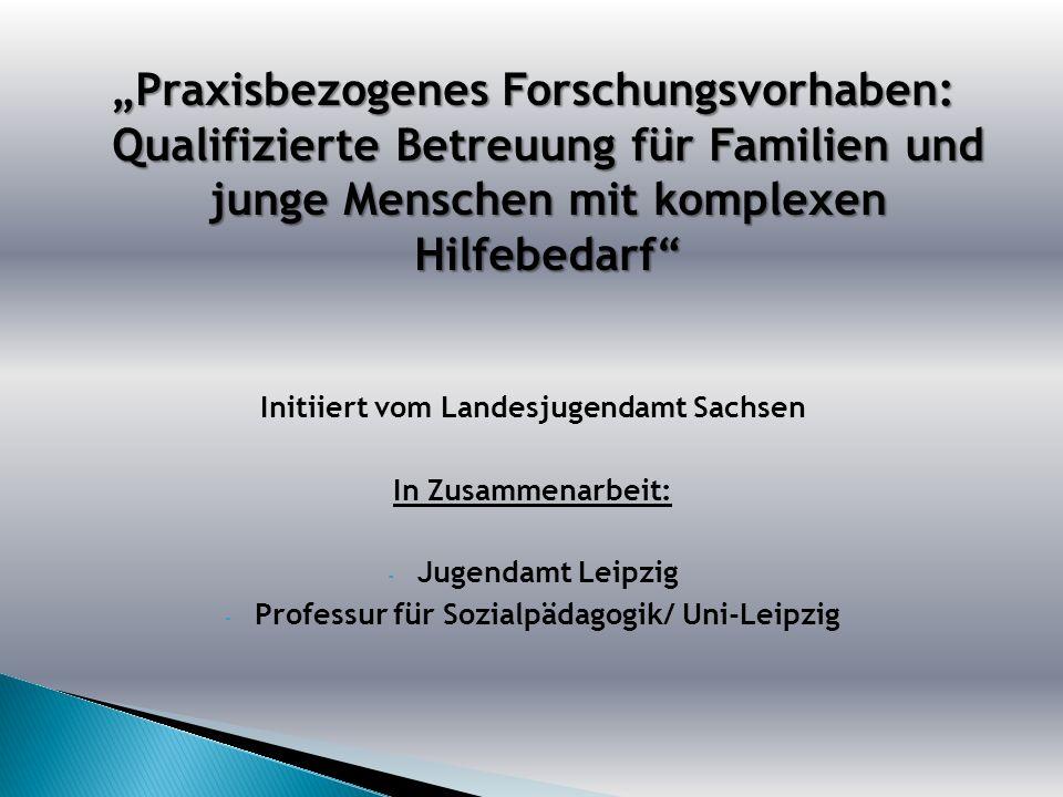 Praxisbezogenes Forschungsvorhaben: Qualifizierte Betreuung für Familien und junge Menschen mit komplexen Hilfebedarf Initiiert vom Landesjugendamt Sa