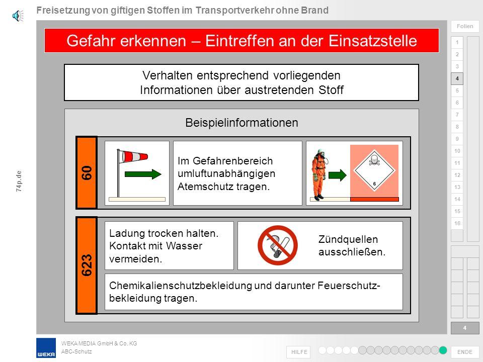 WEKA MEDIA GmbH & Co. KG ABC-Schutz ENDE HILFE 1 2 3 4 5 6 Folien 7 8 9 10 11 12 13 14 15 16 74p.de Informationen werden übermittelt, ggf. noch währen