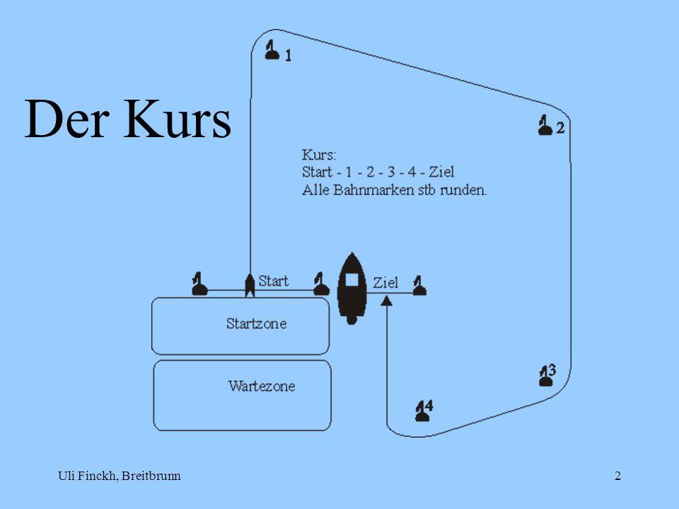 Uli Finckh, Breitbrunn3 Änderungen und Ergänzungen der normalen Wettfahrtregeln 17.2 (Tiefer segeln als richtiger Kurs) gilt nur bei Überlappung im Zweilängenabstand.
