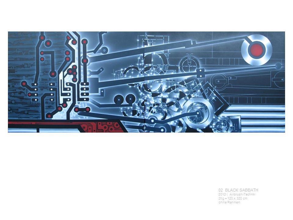 02 BLACK SABBATH 2012 | Airbrush-Technik 2tlg = 120 x 320 cm ohne Rahmen