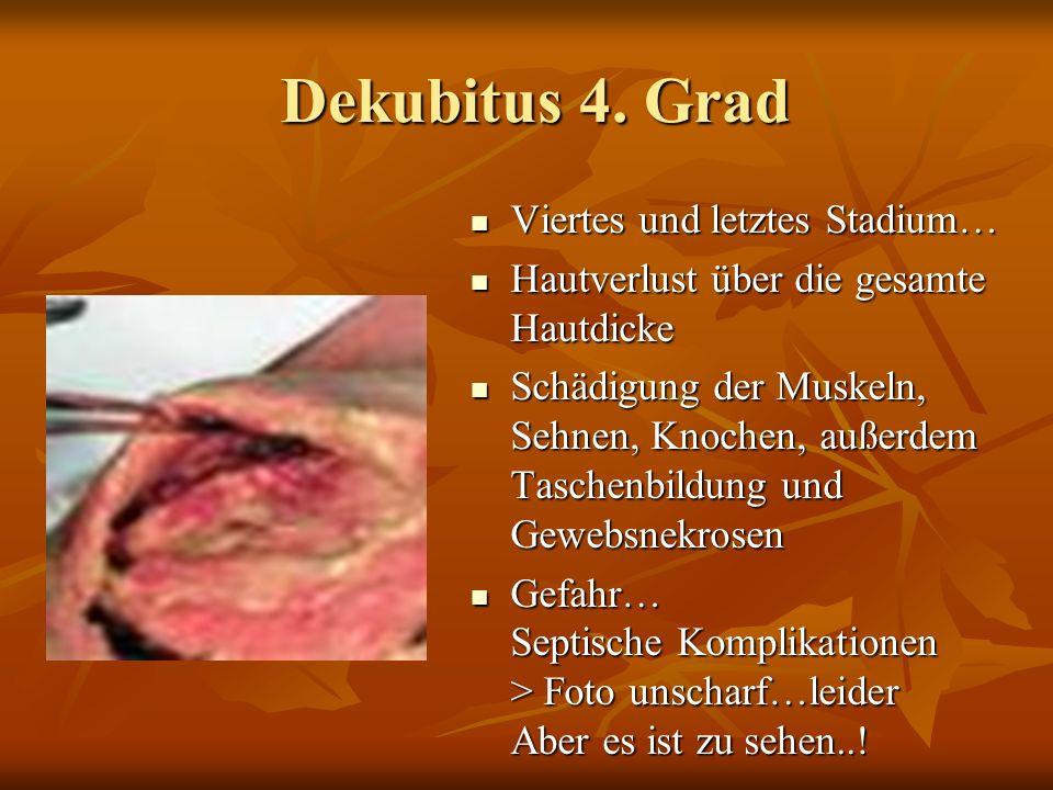 Dekubitus 4.Grad Dekubitus 4.