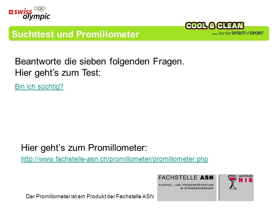 Hier gehts zum Promillometer: http://www.fachstelle-asn.ch/promillometer/promillometer.php Der Promillometer ist ein Produkt der Fachstelle ASN Suchtt