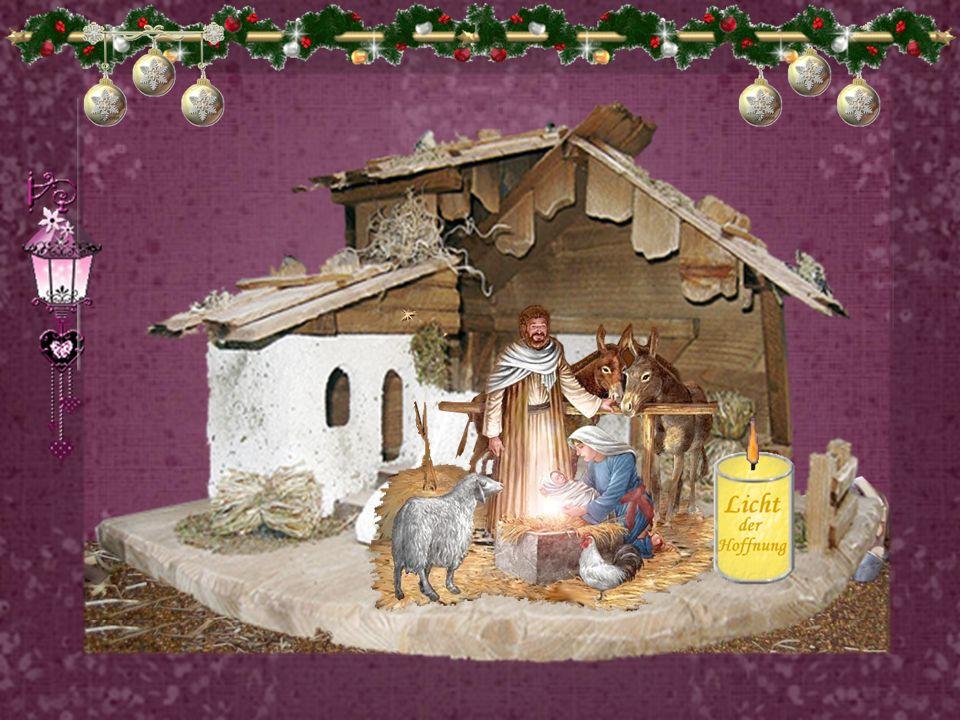 Weihnachten - in uns und nicht nur um uns herum! Das Kind in der Krippe möchte in uns geboren werden und nicht nur im Stall von Bethlehem, damit durch