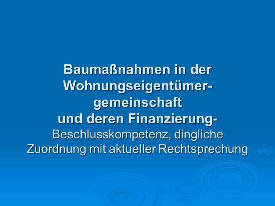 Gerald Lipka Fachanwalt für Miet- und Wohnungseigentumsrecht BGH, 15.01.2010, V ZR 114/09; Kostenverteilung 2.