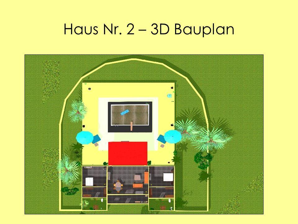 Haus Nr. 2 – 3D Bauplan