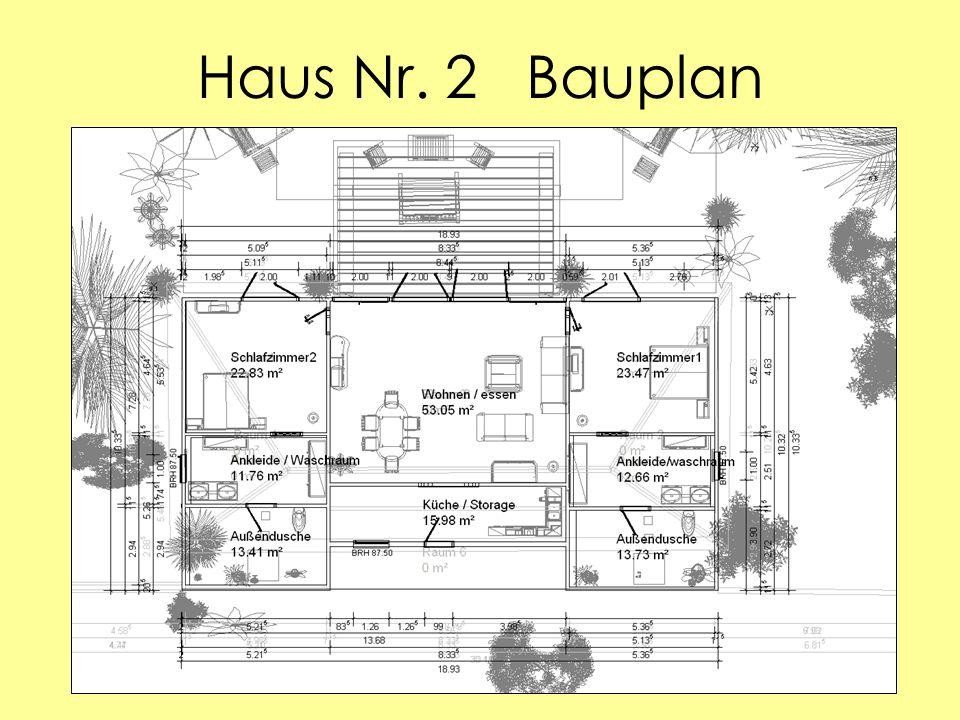Haus Nr. 2 Bauplan