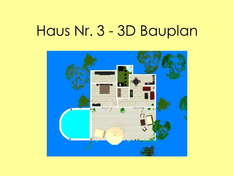 Haus Nr. 3 - 3D Bauplan