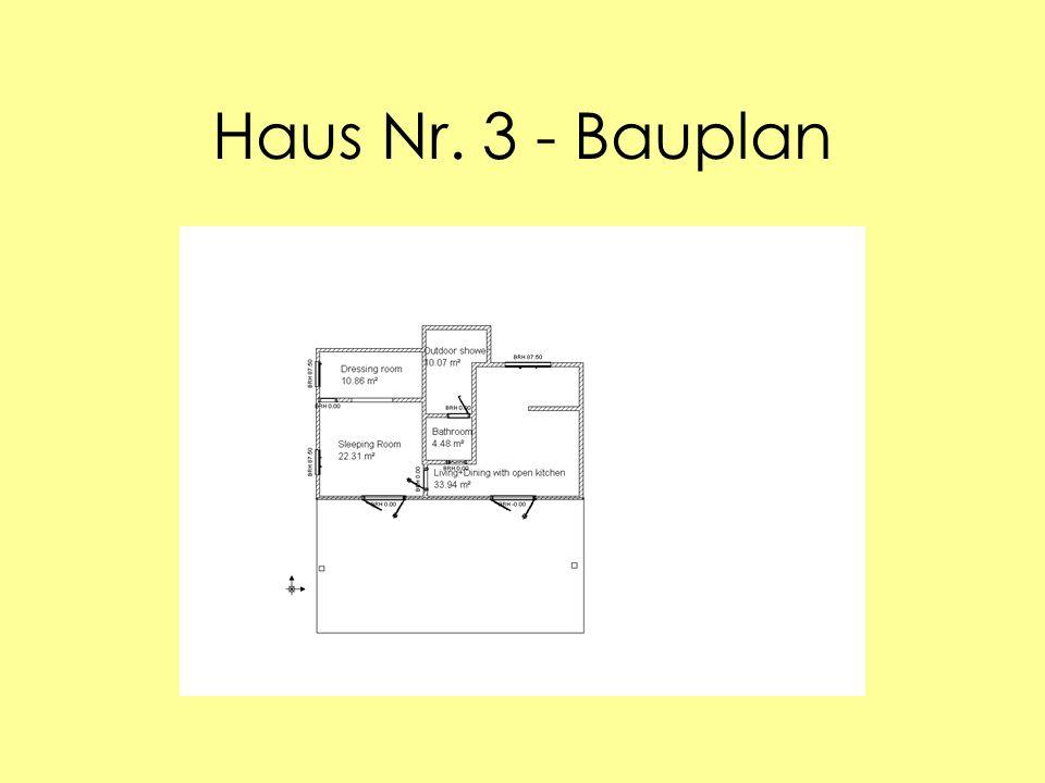 Haus Nr. 3 - Bauplan