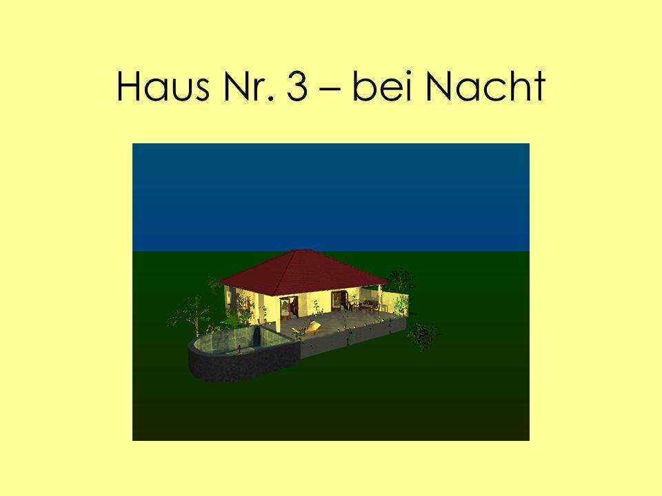 Haus Nr. 3 – bei Nacht