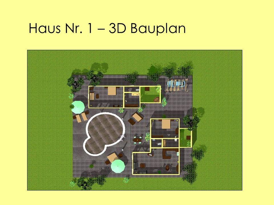 Haus Nr. 1 – 3D Bauplan
