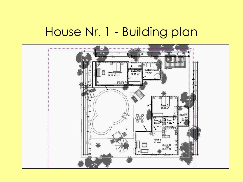 House Nr. 1 - Building plan