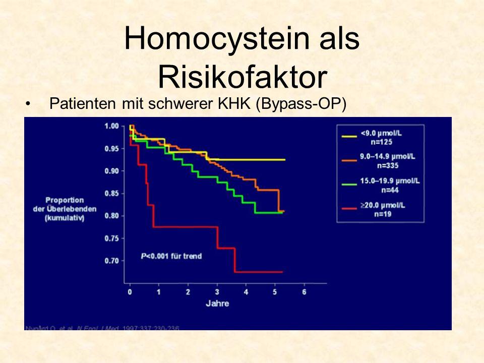 Homocystein als Risikofaktor Patienten mit schwerer KHK (Bypass-OP)
