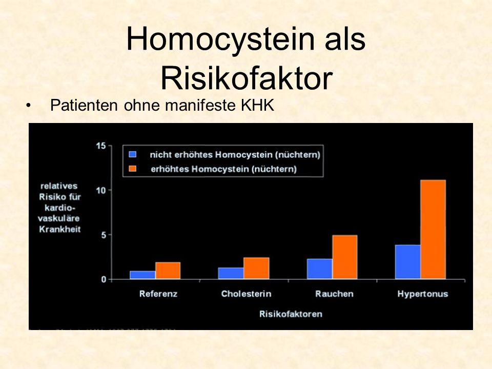 Homocystein als Risikofaktor Patienten ohne manifeste KHK
