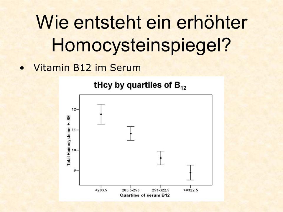 Wie entsteht ein erhöhter Homocysteinspiegel? Vitamin B12 im Serum