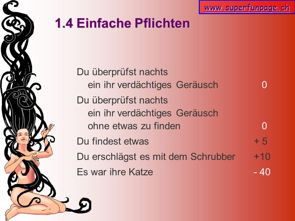www.superfunpage.ch Auswertung -1.000 -1.000 Du hast gar keine Beziehung mehr.