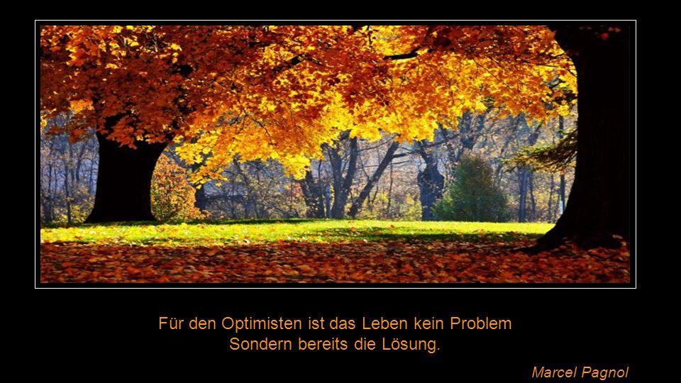 Für den Optimisten ist das Leben kein Problem Sondern bereits die Lösung. Marcel Pagnol