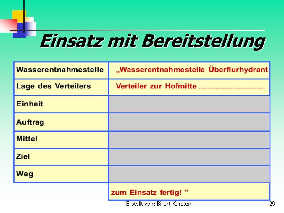 Erstellt von: Billert Karsten29 Einsatz mit Bereitstellung