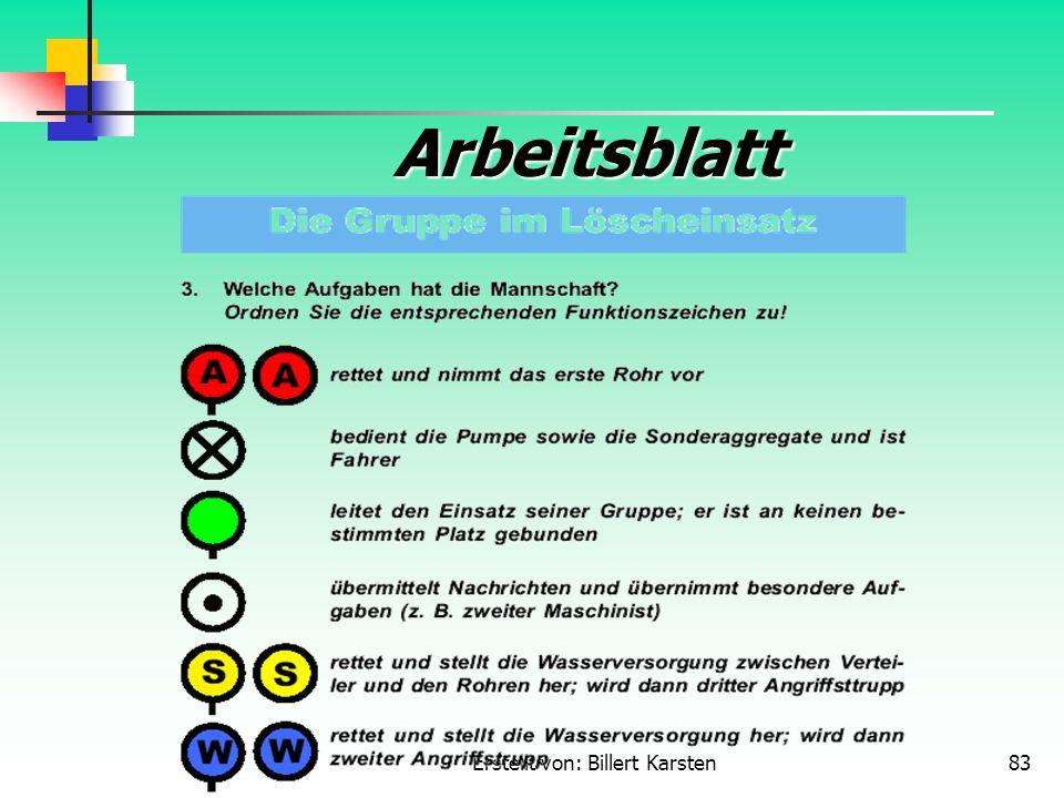 Erstellt von: Billert Karsten83 Arbeitsblatt