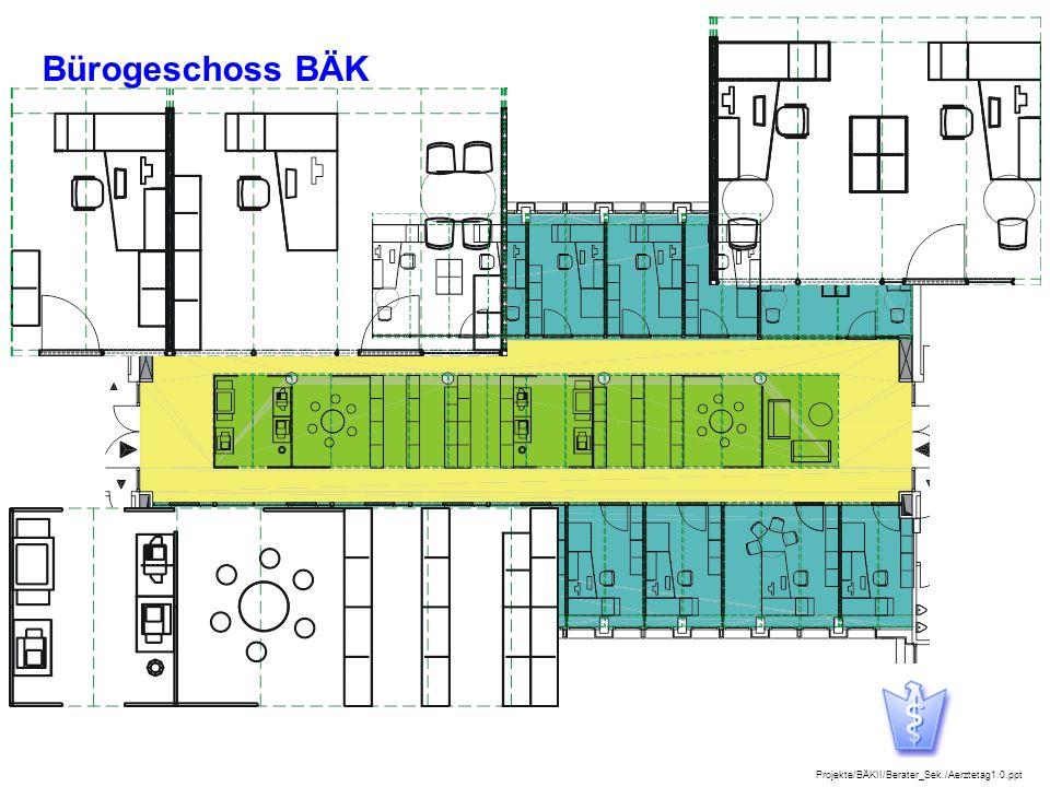 Projekte/BÄKII/Berater_Sek./Aerztetag1.0.ppt 8 Bürogeschoss BÄK