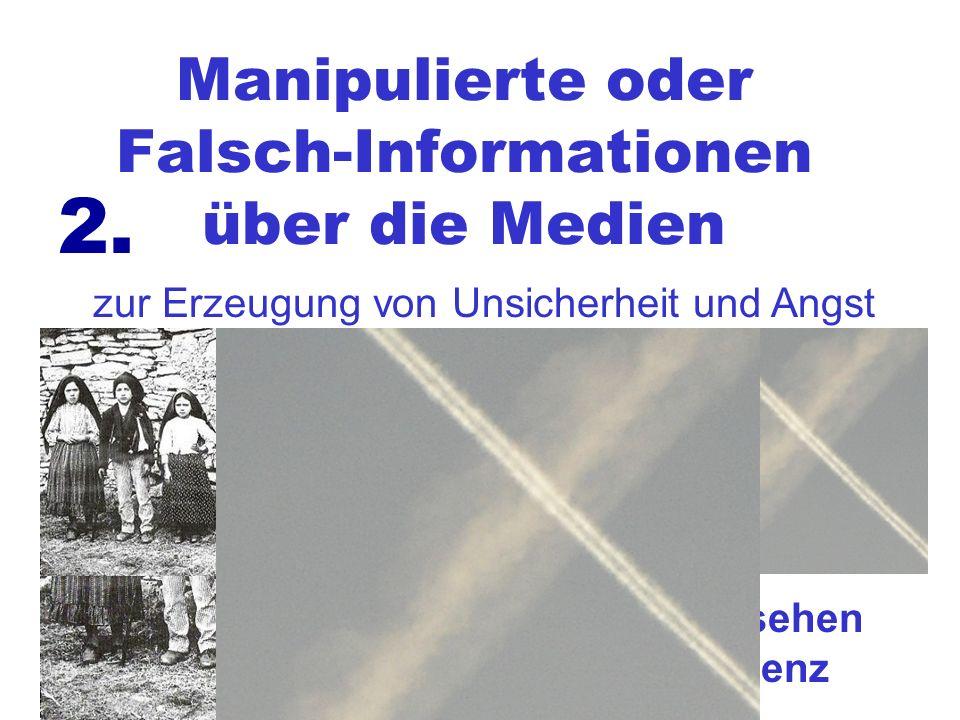 Manipulierte oder Falsch-Informationen über die Medien zur Erzeugung von Unsicherheit und Angst 2.... und zusätzlich noch beim Fernsehen eine stark be