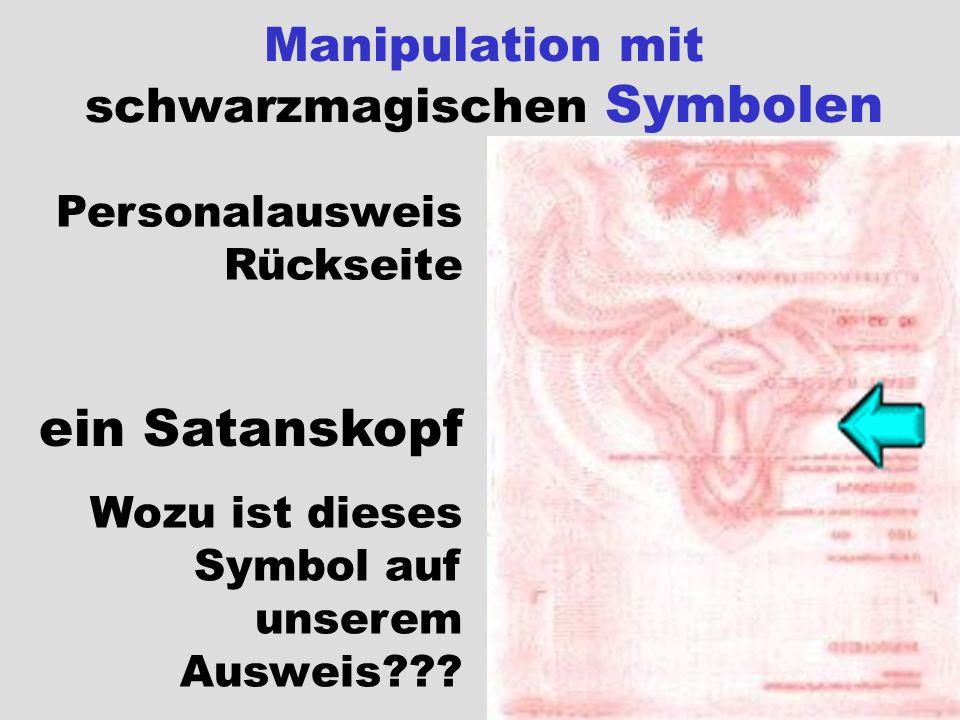Manipulation mit schwarzmagischen Symbolen Personalausweis Rückseite ein Satanskopf Wozu ist dieses Symbol auf unserem Ausweis???